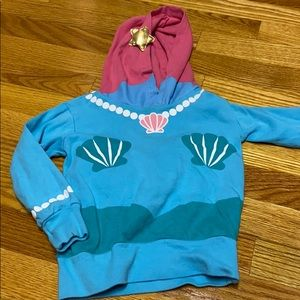 Doodle pants mermaid hoodie with pillow tail 2T